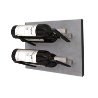 Stact L-Type Wine Rack - Concrete & Black