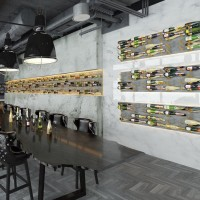 STACT L-Type Wine Rack - Concrete & Gold